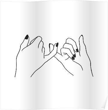 Due mani che intrecciano i mignoli in segno di promessa